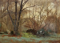 paysage de campagne by antoine chintreuil