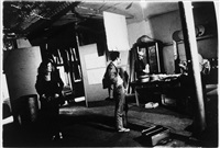 viva, taylor mead and andy warhol in the factory, preparing to go to max's kansas city by billy name
