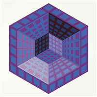 vancouver (album of 8 w/title & justif.) by victor vasarely