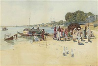 the ghats at benares by robert weir allan