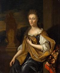 portretten van adriaan de lange (1633-1693) en margaretha bonser (1629-1711) by pieter van der werff