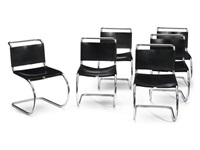side chairs by ludwig mies van der rohe