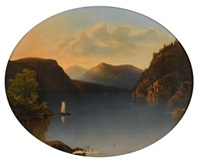 view of lake george by john william casilear