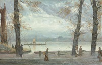 cheyne walk, london by cecil gordon lawson