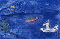 nachklang, pl. 33 (from daphnis und chloe) by marc chagall