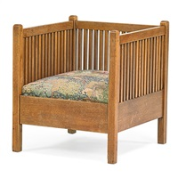 spindled armchair by gustav stickley