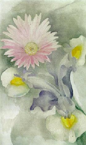 Pink And Yellow Flowers Von Georgia Okeeffe Auf Artnet