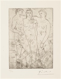 les trois baigneuses ii (three bathers ii) by pablo picasso