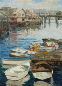 boats in monterey harbor by meredith brooks abbott