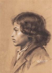 knabenporträt by wilhelm dachauer