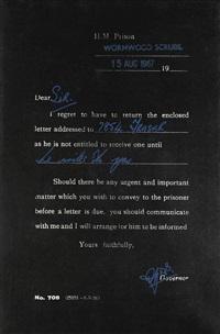letter from prison (7854 fraser 1969) by clive barker
