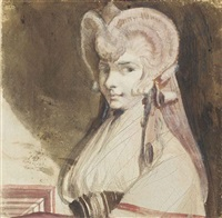 portrait of the artist's wife by henry fuseli