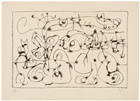 untitled (plate 4 from ubu roi) by joan miró