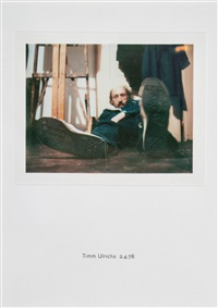 self portrait. timm ulrichs 2.4.78 by richard hamilton