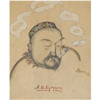 portrait of alexander kuprin by viktor deni