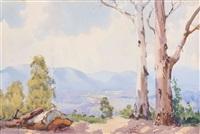 australian landscape by albert namatjira