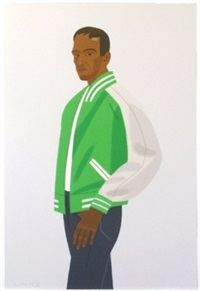 green jacket by alex katz
