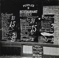 bowery lunchroom, new york, new york by walker evans