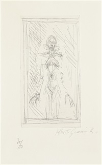 small standing nude (petit nu debout) (from catalogue kornfeld & klipstein) by alberto giacometti