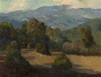 santa barbara foothill landscape by meredith brooks abbott