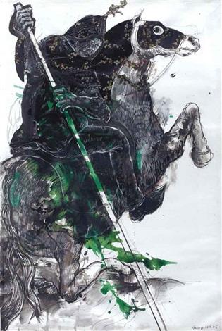 the horseman 7 from the harouboriental battles series by marwan sahmarani