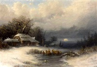 a russian winter landscape by fyodor alexandrovich vasil'yev