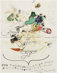 untitled (chèr martinet) by jean tinguely
