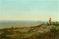 en hyrde ser ud over landskabet ved egnen omkring beauvais by jean-jean cornu