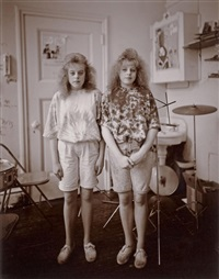 the stewart sisters, h.f. grebey junior high school, hazleton, pennsylvania by judith joy ross