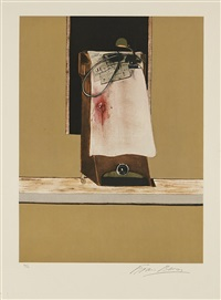 untitled (leon trotsky, right panel) (from triptych, 1987) by francis bacon
