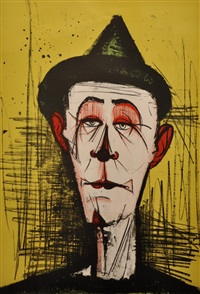 le clown jaune by bernard buffet