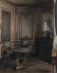a salon interior by maurice lobre