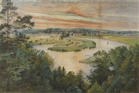 marlow lock from cookham dean by charlotte nasmyth