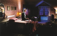 winter (mother on bed with blood) by gregory crewdson
