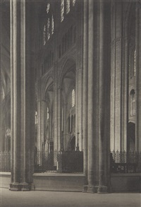 across nave (bourges cathedral) by alfred stieglitz
