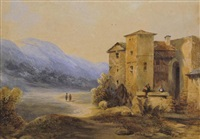 paysage animé by jean-baptiste-louis hubert