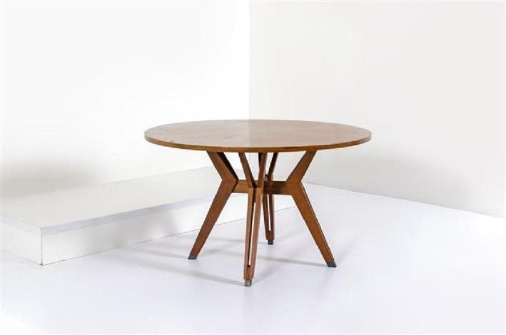 Tavolo in legno di teak, sostegni in legno e metallo laccato von Ico ...