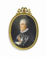baron ernst gideon von laudon (1717-1790), when field marshal, in gilt-edged silver armour with besagew and ruff by friedrich heinrich füger