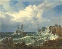 sturm an der felsenküste (after morgenstern) by wilhelm boshart
