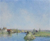 canal du loing by alfred sisley