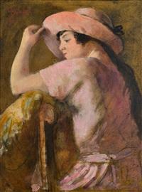 jeune-fille au chapeau by armand rassenfosse