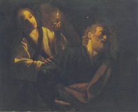 the liberation of saint peter by trophîme (theophisme) bigot the elder