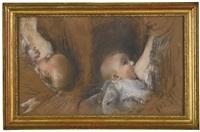 deux etudes d'enfant au sein (studies) by henri gervex