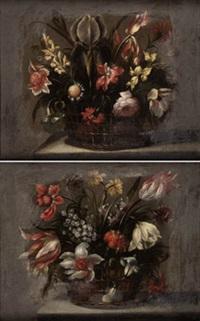 pareja de canastillas con flores (pair) by juan de arellano
