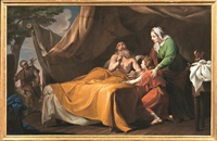 isacco benedice giacobbe by bernardino nocchi