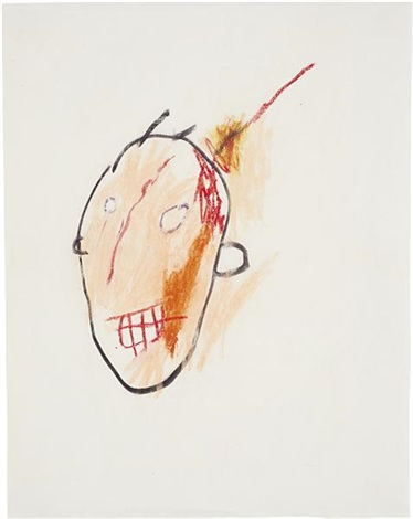 untitled head by jean michel basquiat