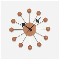 ball wall clock, model 4755 by george nelson & associates