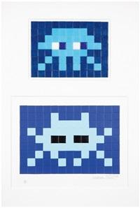 invasion kit 11 et blue invasion (2 works) by invader