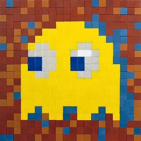 yellow phantom by invader