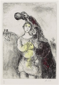 ohne titel, pl. 60 (from bibel) by marc chagall